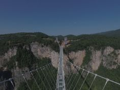 Take a first look at the stunning and amazing glass Bridge in the world! 300 vertical height from the ground, 430 meters long, and 6 meters wide, the Zhangjiajie Grand Canyon glass bridge holds 10 world records and it has the highest bungy jump in the world!