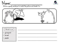 Halloween Vocabulary Sentence and Word Work
