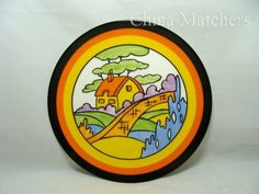 Wedgwood The Bizarre Living Landscapes of Clarice Cliff 'Orange Roof Cottage' Plate Clarice Cliff, Ceramic Design, Wedgwood, Hobbies And Crafts, Coasters, Decorative Plates, Pottery, Ceramics, Crystals