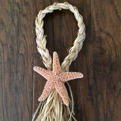 Set of 10: Orange Sugar Starfish Braided by SeaToLandDesigns