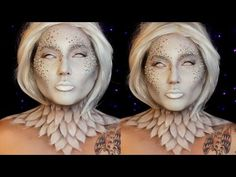 This Ice Queen Makeup Tutorial is all geared around our DIY realistic icicles made from hot glue! They make up the entire crown, and help to bring the entire. Angel Halloween Makeup, Halloween Makeup Looks, Halloween Kostüm, Halloween Costumes, Make Up Tutorials, Medusa Make-up, Engel Make-up, Jordan Hanz, Ice Queen Makeup