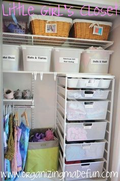 organizing a little girls room
