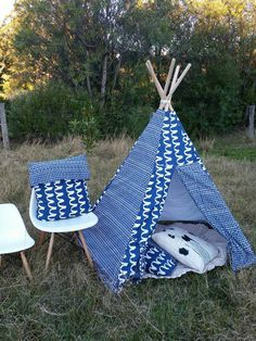 Check out this item in my Etsy shop https://www.etsy.com/au/listing/461649496/teepee-play-tent-cushions-neutral-indigo