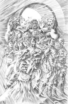Green Lantern Corp. by Alan Quah *