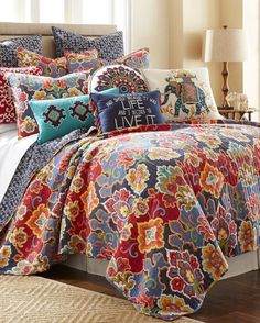 Floral Print Luxury Quilt - Full/Queen