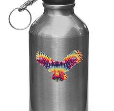 "CLR:WB - Rainbow Tie Dye Owl - Vinyl Decal for Water Bottles   Vacuum Flasks  Cups © YYDC (3""w x 2""h)"