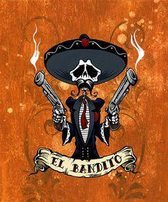 El Bandito Portrait by David Lozeau