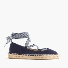 A ballet-inspired espadrille that's perfect for long walks (and upcoming vacations). Cotton upper. Leather lining. Made in Spain. Select stores.