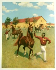The Stallions at Winganeek by George Ford Morris