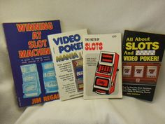 "Set of 4 Vintage ""Win At Slots & Video Poker"" Gaming / Gambling Books"