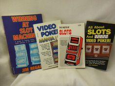 "Set of 4 Vintage ""Win At Slots & Video Poker"" Gaming / Gambling Books"