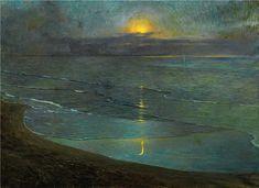 Ugo Flumiani (1876-1938) View of Grado at Night