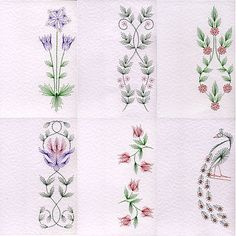 Value Pack No. 39: Bookmark WM Flowers at Stitching Cards - ePatterns for paper embroidery