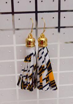 African Fabric Tassels Earrings Fabric Stud Earrings Ankara