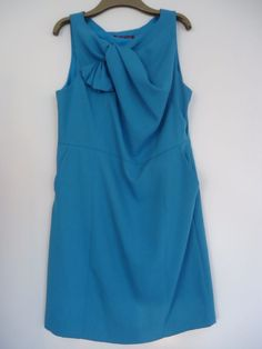 Uttam London Peacock Blue Party Cocktail Dress Sleeveless Size XL