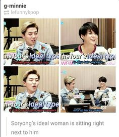 She's secretly all of our ideal type tho lol XD We all love Amber ❤