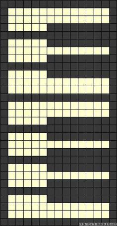 Bead loom bracelet – piano patterns – Crochet / knit / stitch charts and graphs - weaving patterns Loom Bracelet Patterns, Loom Knitting Patterns, Bead Loom Bracelets, Bead Loom Patterns, Knitting Charts, Weaving Patterns, Knitting Stitches, Stitch Patterns, Crochet Patterns