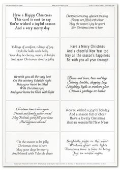 Best 12 Easy Peely Verses for Cards – Short 'n' Sweet Christmas Sheet 1 Christmas Greeting Card Messages, Christmas Card Verses, Christmas Card Crafts, Funny Christmas Cards, Christmas Quotes, Christmas Wishes, Xmas Cards, Christmas Greetings, Christmas Card Wording