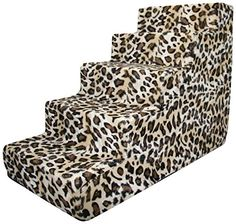 Best Pet Supplies 5-Step Foam Pet Stairs/Steps, 30 by 15 by 23-Inch, Animal Print * Read more at the image link.