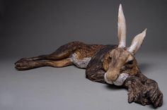 Large sleeping havergate hare - Jeremy James