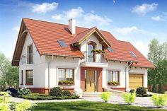 projekt Dom Dla Ciebie 1 z garażem 1-st. [A] WRF1706