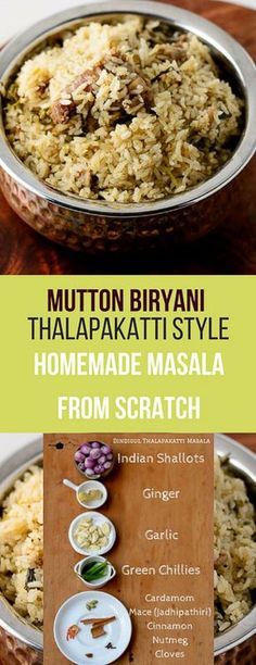 Recipe for Mutton Biryani made Dindigul Thalapakatti style. Recipe with step by step pictures. Veg Recipes, Indian Food Recipes, Chicken Recipes, Cooking Recipes, Cooking Corn, African Recipes, Indian Snacks, Cooking Turkey, Recipe Chicken