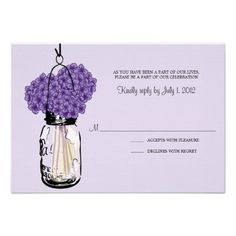 ShoppingHydrangea & Mason Jar Wedding RSVP Inviteswe are given they also recommend where is the best to buy