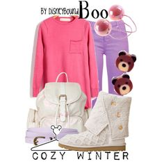 A fashion look from December 2012 featuring pink knit top, purple jeans and cuff shoes. Browse and shop related looks.