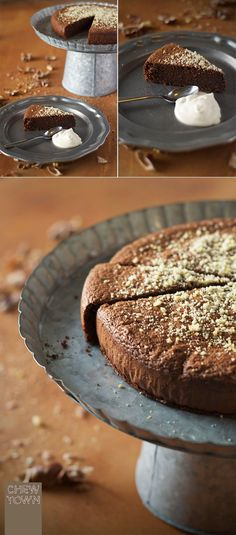 exotic dessert recipes, easy dessert recipes with few ingredients, healthy recipes dessert - Fall in love with the under-appreciated Chestnut with this quick, easy and flavorful Gluten-Free Chestnut and Chocolate cake! Chestnut Flour Recipe, Chestnut Recipes, Dessert Sans Gluten, Gluten Free Desserts, Sweet Recipes, Cake Recipes, Dessert Recipes, Healthy Recipes, Grill Dessert