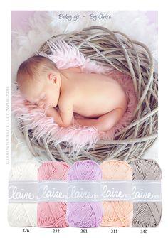 Baby girl Prachtige pasteltinten. Mooi voor een baby dekentje of lieve knuffel. Katoen van ByClaire om mee te haken of te breien.