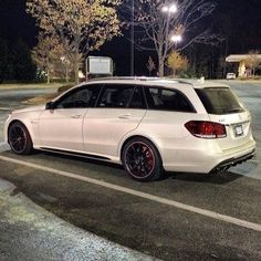 It's like seeing a really really fast unicorn.   #MBphotocredit @schiznick    #mercedes #benz #instacar #luxury #germancars #carphotography #carsofinstagram #luxury #e63 #amg #superwagon #wagon #stationwagon