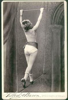 Circus   Carnival   Masquerade   Cabaret Photography at: http://www.pinterest.com/oddsouldesigns/the-secret-circus/ #tightrope #vintage