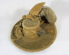 Lady's velvet hat with cut steel hat pin, c.1770-1780, from the Vintage Textile archives.