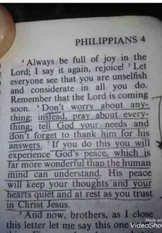 WOW PHILIPPIANS 4:6 THE* WORD* OF GOD* IS SO VERY VERY AWESOME!!! THANK YOU*! JESUS*!!! ❤️♥️♥️❤️