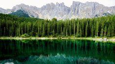 Lake Carezza in Italy - Next Trip Tourism Italy Tourism, Weird Stories, Cool Watches, The Good Place, Coastal, Around The Worlds, Journey, Urban, Mountains