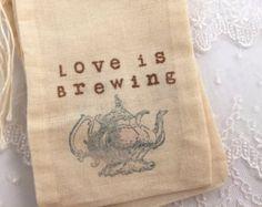 Amor es cerveza Favor Tea Party muselina bolsas de 4 x 6 o 5 x 7