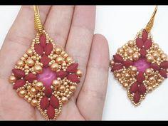 Tutorial orecchini Beatrice - YouTube Seed Bead Jewelry, Seed Bead Earrings, Beaded Earrings, Seed Beads, Beaded Jewelry, Diy Jewellery, Twin Beads, Earring Tutorial, Terracotta Pots