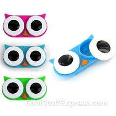 $3.97 and SUPER fun! Owl contact lenses!