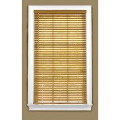 Style Selections 25.5-In W X 48-In L Light Oak Faux Wood Plantation Bl