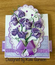 Tattered Lace Cards, Presents For Mom, Anna Griffin, Flower Images, Flower Cards, 3 D, Birthdays, Greeting Cards, Handmade Cards