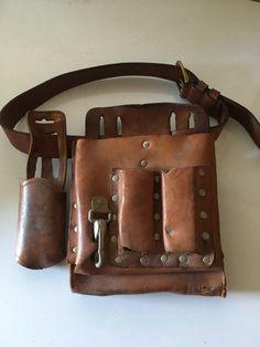 Tool Pouch Klein 5164 Wiss Holder Leather Lineman Carpenter