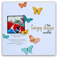 From Write, Click, Scrapbook. Love the white space with splashes of color.
