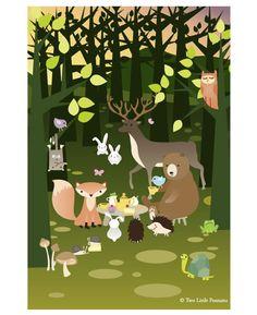 Deep in the woods, every morning at 10, the animals meet for tea and cake. Patrick the bear prefers lemon in his tea and likes to make knock