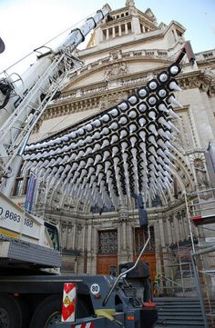 I love found objects that become transformed into something beautiful.  In this case: Traffic Cones by Thomas Heatherwick