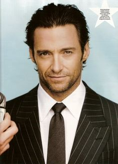 Hugh Jackman - if you ever need to picture one of my male leads, he will pretty much cover it.