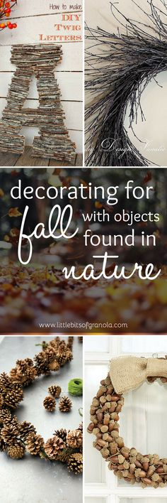 I LOVE fall!!! Nature is so beautiful this time of year - why not bring it indoors where you can enjoy it day and night? I can't wait to try out some of these decorating ideas!