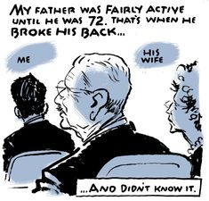 The Care Package by Jack Ohman - Illustrates his father's final years.