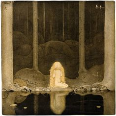 """""""Sagan om älgtjuren Skutt och lilla prinsessan Tuvstarr"""" from """"Bland Tomtar och Troll 1913″, by John Bauer"""