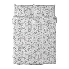 IDGRAN OVAL  Duvet cover and pillowcase(s), white, gray  $29.99