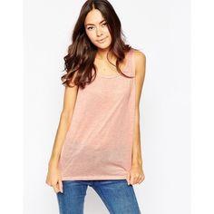 d0ba63b5c08ec Minimum Sleeveless Vest Top (€22) ❤ liked on Polyvore featuring tops